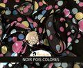 Romance Noir Pois Colorés