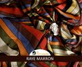 Romance Rayé Marron