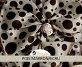 Romance Pois Marron/Ecru